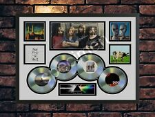 More details for pink floyd signed a4 multi picture  autograph print memorabilia