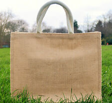 5 x Large Jute Hessian Shopping Bag with  Padded Handles***Special Price***