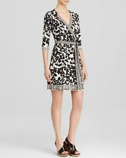 Diane von Furstenberg Black White Eden Garden Tallulah Two Dress $468 NWT 14