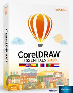 Corel DRAW Essentials 2020 Vollversion Grafik Illustrationssoftware Download NEU