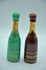 2 bouteilles signées CAB Céramique d'Art de Bordeaux collection cuisine