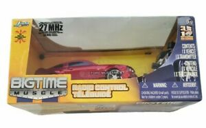 BIGTIME Muscle RC 2015 Ford Mustang GT Remote Control Car Jada 1:24 Scale RED