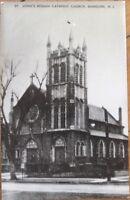 1950s Realphoto Postcard: St. John's Roman Catholic Church- Dunellen, New jersey