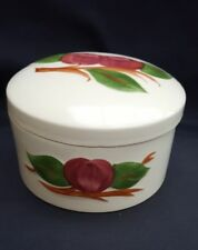 Franciscan Earthenware Hand Decorated Apple  Anniversary Round Box with Lid