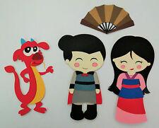 Princess Mulan Captain Shang Mushu Dragon Paper Die Cut Scrapbook Embellishment