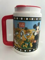Disney MGM Studios Disney World Mickey Mouse Minnie Goofy Coke Travel Mug Cup