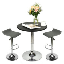 3 Piece Pub Bar Table Set With 2 Bar Stools Counter Height Dining Home Furniture