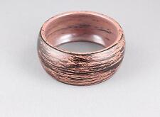 Brown Black bangle bracelet wood look plastic hinged wide bangle cuff brushed