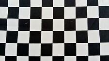 BLACK & WHITE CHECK FABRIC COTTON PER HALF MTR -152cm wide squires 20mm x 23mm