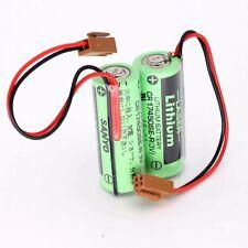 10pcs Sanyo Battery 3V 2200mAh CR17450SE-R W/Plug for PLC