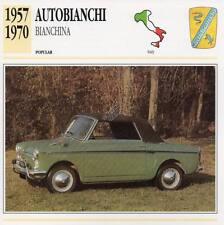 1957-1970 AUTOBIANCHI BIANCHINA Classic Car Photograph / Information Maxi Card