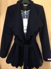 Ted Baker AASTAR Scallop detail wool wrap coat jacket size 3 UK 12