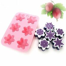 Silicone Ice Tray  Chocolate Mould for Cakes Cupcakes Jelly Xmas Snowflake mold