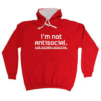 NOT ANTISOCIAL SOCIALLY SELECTIVE HOODIE hoody funny rude top birthday gift 123t