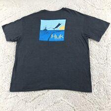 Huk Fishing Men's Short Sleeve Graphci T-Shirt 3X XXXL 3XL Adult Cotton Blend