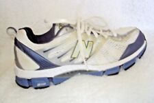 New Balance Womens Shoes Size 8.5 White Blue Silver Lace Up