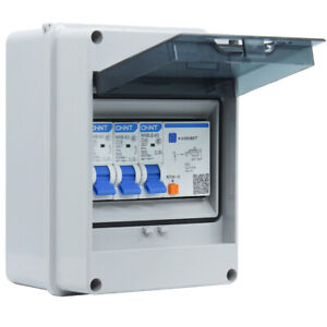 5 Way Garage IP65 Weatherproof Consumer Unit Enclosure 40A 30mA RCD MCB Fuse Box