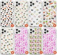 Kawaii Japanese Sushi Patterns Impact Phone Case for iPhone | Transparent Japane