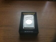 ZIPPO LIGHTER LOGO WITH FLAME STUNNING ITEM NEW WITH BOX