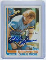 1982 BREWERS Charlie Moore signed card Topps #308 AUTO Autographed Milwaukee