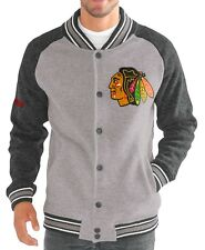 "Chicago Blackhawks G-III NHL ""The Ace"" Men's Premium Sweater Varsity Jacket"