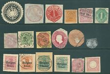 GERMANY early Back of Book stamp collection including cut-outs