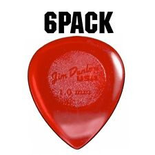 Jim Dunlop Big Stubby Plectrum Players Pack - 6 Pack - 1mm Red