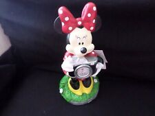 Disney Minnie Mouse Garden/ Lawn Statue~Solar Light Resin~New With Tags