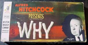 1958 MB Alfred Hitchcock Presents WHY Mystery Board Game Complete VGC