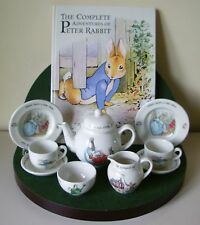 WEDGWOOD ORIGINAL CHILD'S PETER RABBIT 10 PIECE TEA SET,BOXED,MINT.V / RARE!!