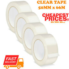 CLEAR STRONG PARCEL PACKING TAPE CARTOON SEALING 50MM X 66M SELLOTAPE PACKAGING