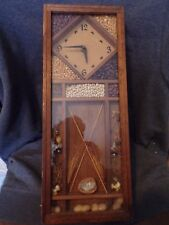 Vintage Retro Shadow box clock Wall Hanging Dried Seeds Flowers A0499
