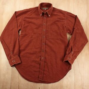Holland & Holland men's moleskin flannel shirt 15.5 / 39 cm / MEDIUM brown
