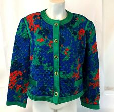 Vintage NWT RARE Lilli Ann Collections Emerald Quilted Blazer Jacket Size 20