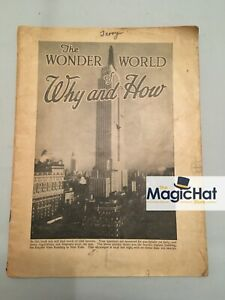 The Wonder World of Why and How Circa 1920