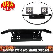 Bull Bar Front Bumper License Plate Mount Bracket Led Work Light Holder OffRoad