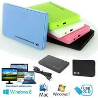 "Hard Drive Enclosure USB 3.0 To SATA 2.5"" External HDD SSD Case Hard Disk LOT"
