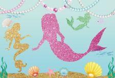 Vinyl 5x3Ft Photography Background Glittering Mermaid Photo Backdrops Studio