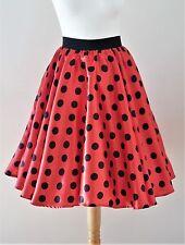 1950s Circle Skirt Size 8 - Polka Dot Rockabilly Pin Up Retro Jive Swing Dress