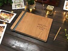 Wedding Guest Book Wooden Guest Book Wedding Photo Album Wedding Decor