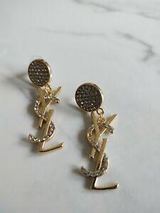 ysl logo Earrings