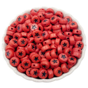 60Pcs 4*7mm Single Hole Star Loose Beads For DIY Jewelry Making Pendant