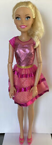 "Posable Barbie Blonde 28"" Doll Best Fashion Friend  2013 Mattel Pink Outfit"