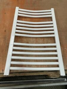 Curved White Bray Towel Rail 500x800  CW580 Filled and Blanked  #133