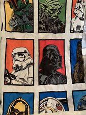"STAR WARS Curtains 2 Panels Lucas films Microfiber Colorful Original 65x42"""