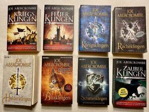 Joe Abercrombie, Die Klingen-Saga Band 1-8 (TB), sehr guter Zustand, s. Bücher