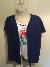 Alfred Dunner Womens Plus Size 1x Multicolored Top