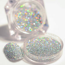 Nail Glitter Powder Silver Holographic Nail Art Laser Manicure Dust Pigment Tips