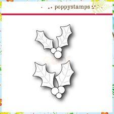 """Poppystamps 1331 Holly Leaves & Berries"""" 100% Steel Craft Die."""