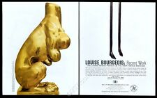1993 Louise Bourgeois art PM/Brooklyn Museum show vintage print ad